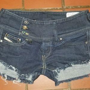 Diesel Cherock Jean Shorts